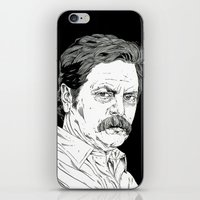 Ron Swanson iPhone & iPod Skin