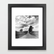 Framed Art Print featuring The Road Not Chosen by Olivia Joy StClaire