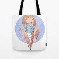 Follow the White Rabbit - Alice Tote Bag