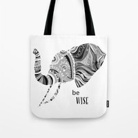 BE WISE Tote Bag