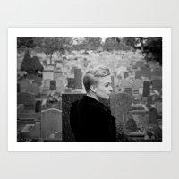 Lady of the churchyard Art Print