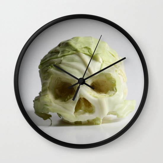 360. Skull of Cabbage Wall Clock