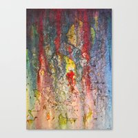Color Waterfall  Canvas Print