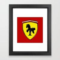 Ferrari Cute Framed Art Print