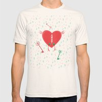 Keys Of Heart Mens Fitted Tee Natural SMALL