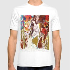 Fall Long Dresses  Mens Fitted Tee White SMALL