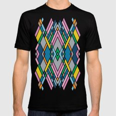 Map Mirror Outline SMALL Mens Fitted Tee Black