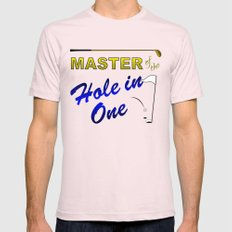 Master of The Hole In One Mens Fitted Tee Light Pink SMALL