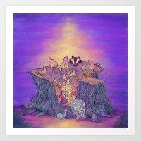 In the mushroom cove Art Print