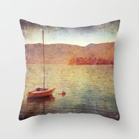 Boat On Lake Maggiore, I… Throw Pillow