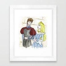 Prince and princess Framed Art Print