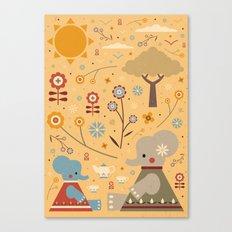 Elephant Tea Party Canvas Print