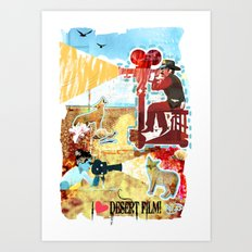 I HEART DESERT FILM Art Print