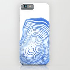 Ryu - spilled ink indigo watercolor painting abstract art marble swirl ocean wave marbled pattern  iPhone 6s Slim Case