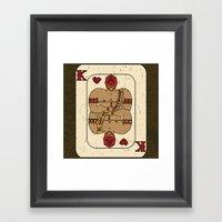 El Rey De Corazones Framed Art Print