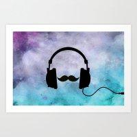 Musical Chameleon  Art Print