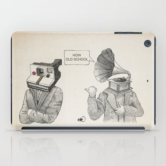 how old school iPad Case