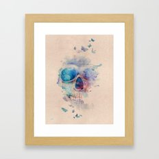 Skull Rainbow Framed Art Print