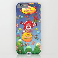 Santa has a Zeppelin to Deliver Christmas Gifts iPhone 6 Slim Case