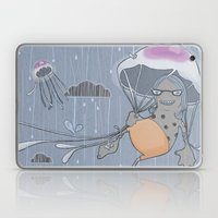 Rainstorm-blue Laptop & iPad Skin
