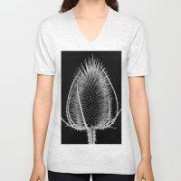 Black & White Teasel Unisex V-Neck