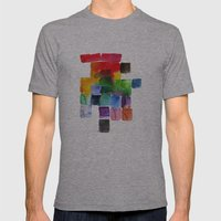 Trickle Down Effect Mens Fitted Tee Athletic Grey SMALL