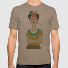 Frida Mens Fitted Tee Tri-Coffee SMALL
