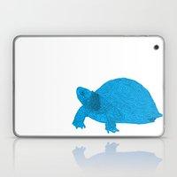 Turtle Illustration Blue Laptop & iPad Skin