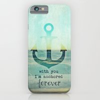 anchor iPhone & iPod Cases featuring ANCHOR by Monika Strigel