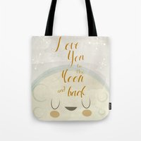 Love You To The Moon Tote Bag