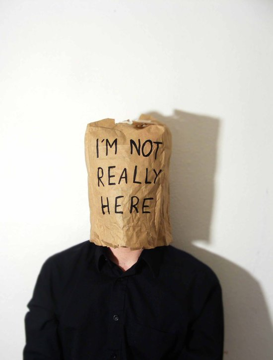 I'm Not Really Here Art Print