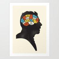 Shaun Phrenology Art Print