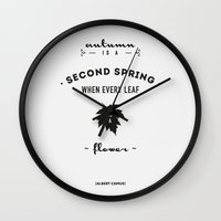 Albert Camus Quote - Au… Wall Clock