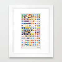 Poke-Pantone 1 (Kanto Re… Framed Art Print
