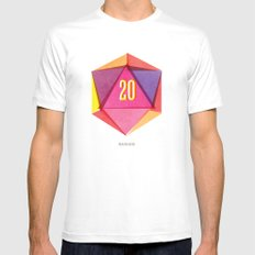 Rolling D20's Like A Big Shot  Mens Fitted Tee SMALL White