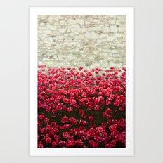 Tower Poppies 04A Art Print