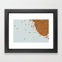 Scattered Leaves Framed Art Print