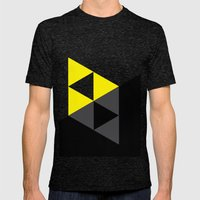 Light and Dark Triforce Mens Fitted Tee Tri-Black SMALL