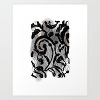 Black Lace Art Print