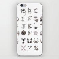 Floral Alphabet  iPhone & iPod Skin