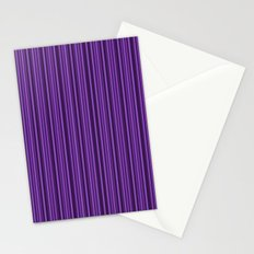 Purple Double Stripes Pattern Stationery Cards