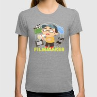 Filmmarker Womens Fitted Tee Tri-Grey SMALL
