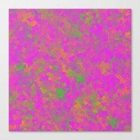 Pink Pixel Canvas Print