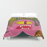 Pink Octopus From Outer … Duvet Cover