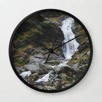 Moss Force Waterfall. Cu… Wall Clock