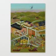 Map Of A Village Canvas Print