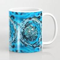 Aqua Swirl Topography Mug