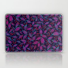 RED BERRIES PINK LEAVES Laptop & iPad Skin