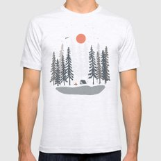 Feeling Small in the Morning... SMALL Mens Fitted Tee Ash Grey