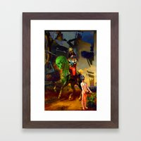 Alexander and Diogenes Framed Art Print